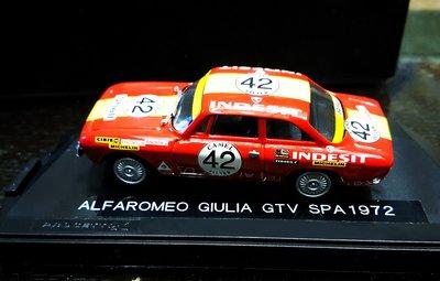 《廣寶閣》義大利 Progetto K 原廠制作 1/43 Alfa Romeo GIULIA GTV SPA 1972