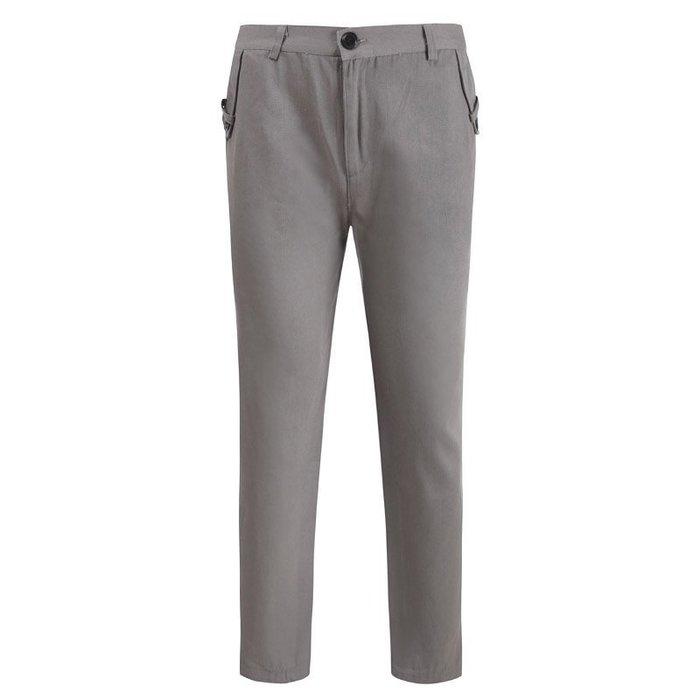 『潮范』  N4 外貿男式純色直筒褲 休閒長褲 新款休閑褲 西褲 大碼長褲 西裝褲