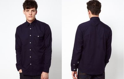 【二手極美品】Jack & Jones Intelligence Toby Shirt 深藍 長袖襯衫 ZARA GAP