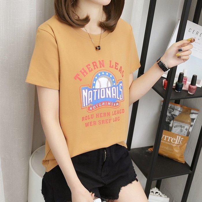 【夕溪閣】~ 夏季韓版新款女士短袖T恤女學生衣服上衣 女裝xxgz84175