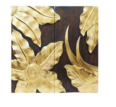 INPHIC-東南亞 家居飾品 泰國風格 木雕 掛飾 浮雕 太陽花