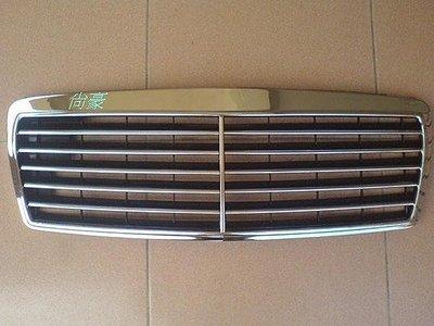 M.BENZ~E系列-W210-96~98 全新 黑底11線 水箱罩
