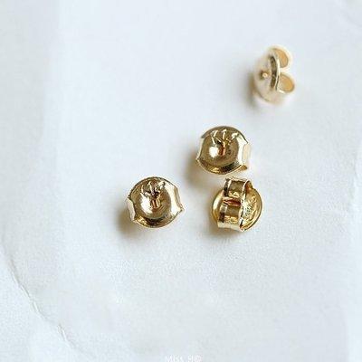 AT49-法式手工輕珠寶-特價 進口 全純14K黃金迷你耳堵耳塞耳背