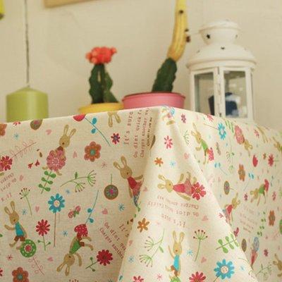 戀物星球 新品新棉麻布卡通風格純棉沙發布料棉麻窗簾桌布抱枕面料麻布布料