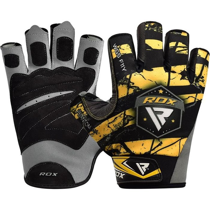 【線上體育】RDX GYM GLOVES SUMBLIMATION F11 YELLOW RDX011