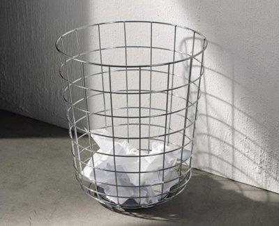 YEAHSHOP 北歐簡約鐵藝金屬網格置物簍紙簍垃圾桶臥室客廳辦公收納筒臟衣簍133782Y185