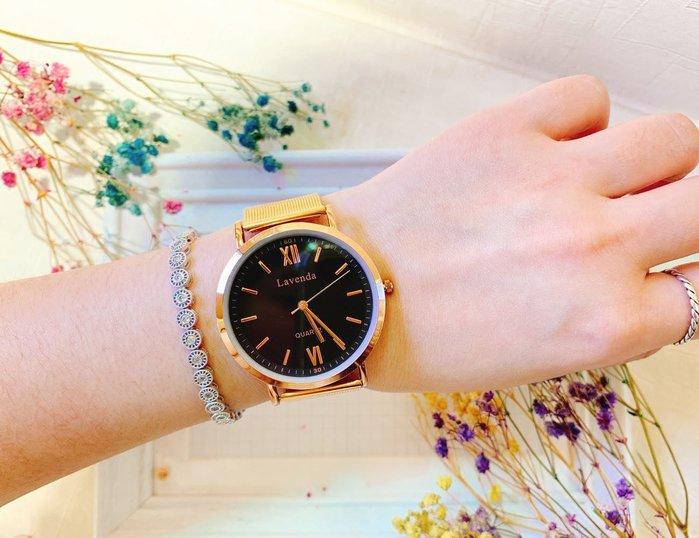 韓國❤️ Lavenda 極簡 羅馬 數字 金屬 鍊帶 造型錶 手錶【Verina's韓系美飾】