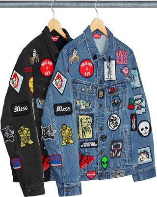 YZY台灣 | SS18 SUPREME PATCHES DENIM TRUCKER JACKET 牛仔外套 2色 選一
