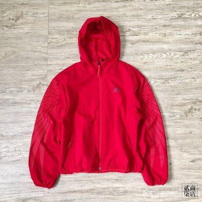 (貳柒商店) adidas CNY MIC Hoodie 女款 紅色 外套 過年 鳳凰 防風外套 連帽 GG0773