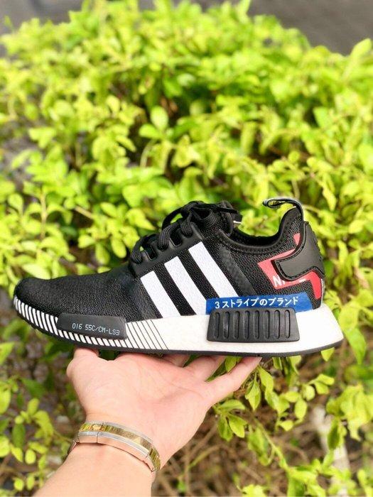 【Cheers】ADIDAS NMD R1 黑白 黑紅 日字 藍紅 日文字 boost EF2357 男鞋