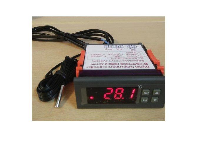 DC24V  30A輸出繼電器 數位式溫度控制器 冷熱 輸出(含感溫棒)