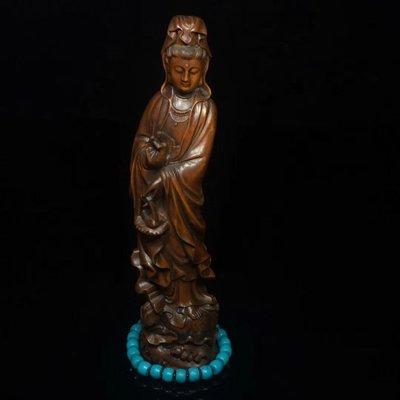 黃楊木 佛像,造型仙氣十足,人物形象逼真,較爲傳統的寫意體裁~哪位行家有緣,帶走