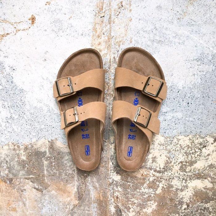 Birkenstock Boston 亞利桑那系列 麂皮 雙帶拖鞋-淺藍/深藍/玫瑰紅/薰衣草紫/卡其