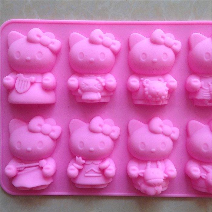 矽膠模具 巧克力蛋糕烘培布丁果凍模 香皂模~ 星座 kitty模型12連模  中 小丑魚 ~A223