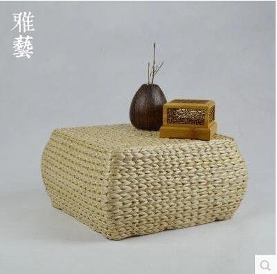 【優上】草編坐墩小凳子榻榻米椅子墊方形加厚蒲團坐墊木架可定做墩子
