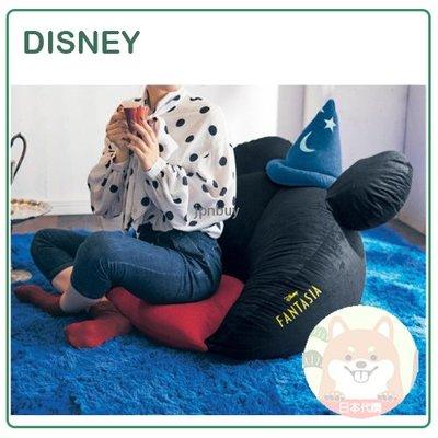 【日本製】日本原裝 DISNEY 迪士尼 FANTASIA 米奇 靠背式 刺繡 立體 坐墊 椅墊 椅子 客廳 和室 日式