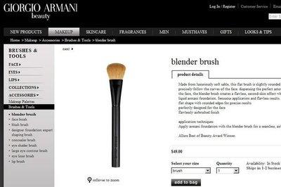 【全新正貨私家珍藏】Giorgio Armani 13#blender brush 紫貂毛粉底刷 ((原價約2千元))特優10組 新北市