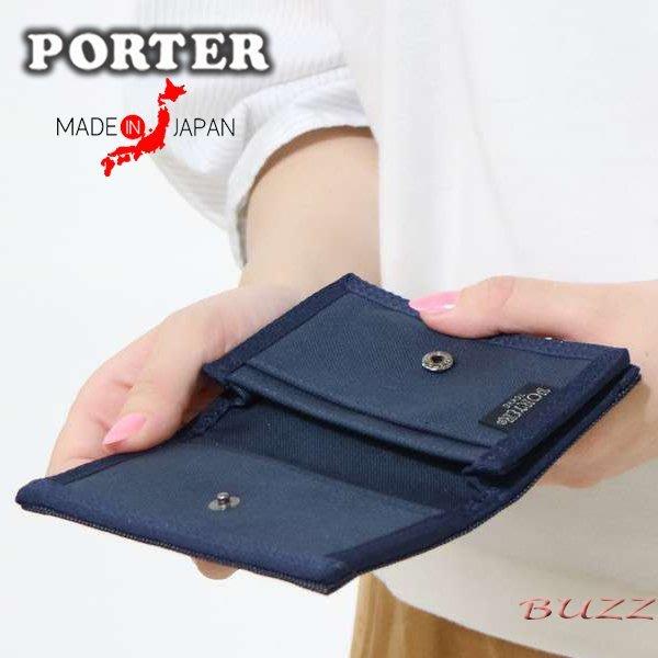 巴斯 日標PORTER屋-黑色 藍色現貨 PORTER SMOKY 名片夾-信用卡夾包 592-09992