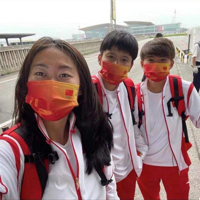 2021年國潮新款冠軍鴻運當頭紅色口罩三層透氣 2020東京奧運會 中國加油💪中國隊加油💪