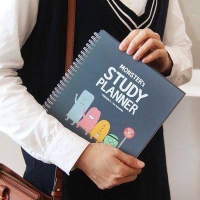 ♀高麗妹♀韓國 Indigo STUDY PLANNER 怪獸學園2 讀書學習計劃 雙線圈/硬書封/半年份行事曆(現貨)