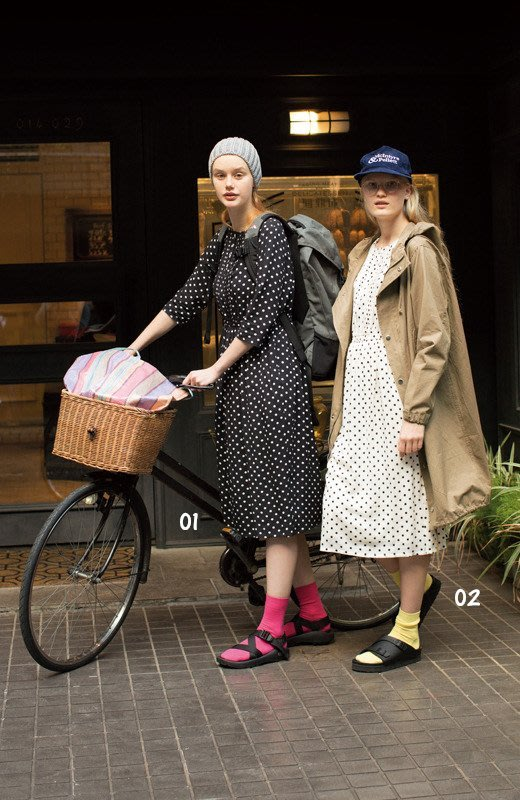logi:z 春 Polka-Dot One-Piece Dress 水玉柄七分袖連身裙 (現貨款特價)