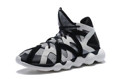 D-BOX Adidas Y-3 Y3 Kyujo Low 波浪形 慢跑鞋 黑白 中筒
