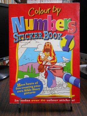 天母二手書店**Colour by Numbers Sticker Book: No.1(英文童書)Candle B