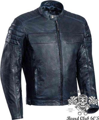 ♛大鬍子俱樂部♛ IXON ® Spark 法國 原裝 復古 防水透氣 皮衣 防摔衣 海軍藍色