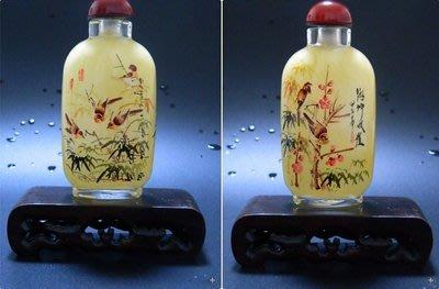 竹雀圖中國風工藝禮品出國小禮品中國風家居擺件外事商務禮品內畫鼻煙壺 壺說56