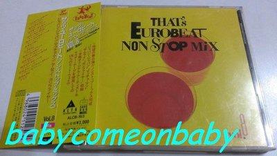 舊CD英文合輯-THAT'S EUROBEAT NON STOP MIX(附側標) 日本版(保存良好99%無刮傷近全新)