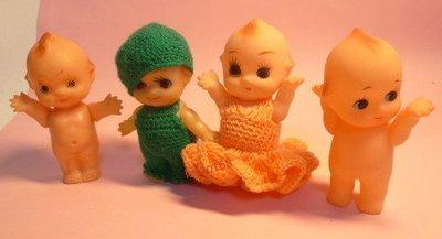 日本早期綠帽Q比娃娃 4點入 [ 新到...