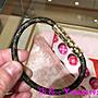 艾琳 二手正品 LV CONFIDENTIAL BRACELET 經典印花簡約真皮手環M6334E