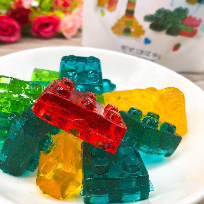【敲可愛】3D立體 積木軟糖 64公克裝