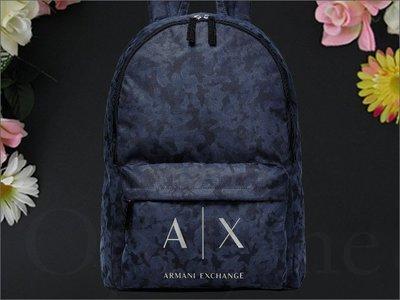 100%美國真品 AX 阿曼尼 A|X Armani Exchange backpack 藍色 防水肩背包 拉鍊 後背包