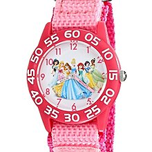 預購 美國 Disney Princess 迪士尼公主系列熱賣款 超可愛女童手錶 指針學習錶 尼龍錶帶 生日禮