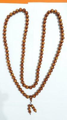 【九龍藝品】金海柳108顆念珠 ~ 珠子約12mm/重量約122公克【 3 】