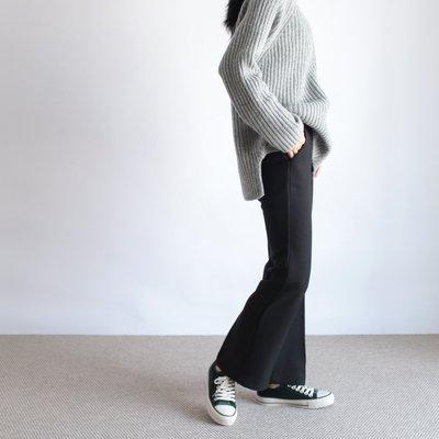 girlmonster 正韓  秋冬半靴型休閒西裝褲 (黑色 咖啡色 灰色)   【A0284】