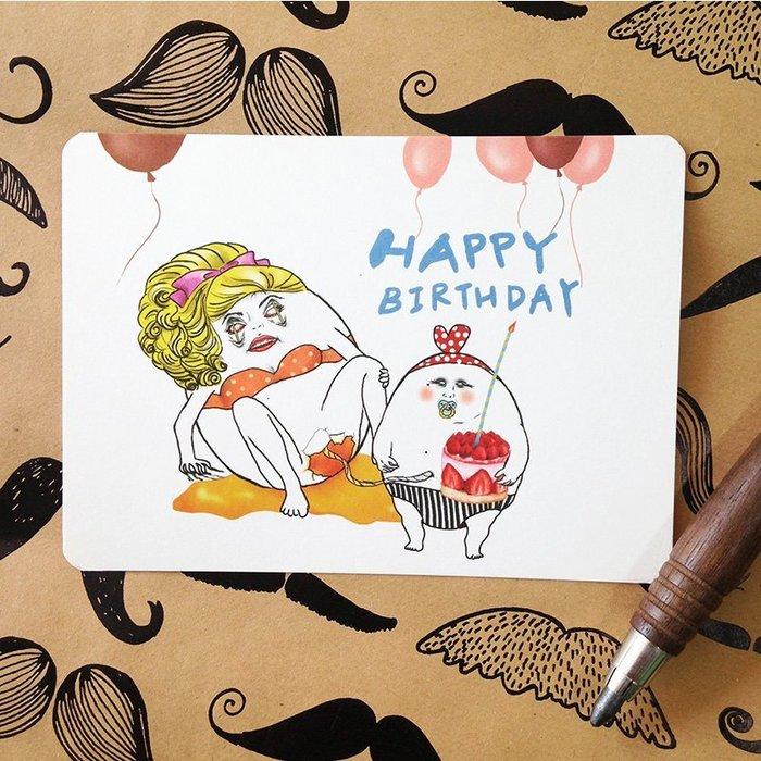 生日卡- Happy蛋生日
