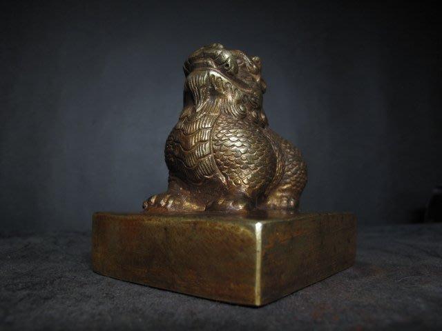 老銅印◎ 貔貅 鎏金大銅印【威武大將軍章】重1.6公斤