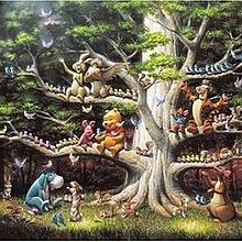 協泰 拼圖-現貨 Tenyo 1000-277 小熊維尼 絕版 迪士尼 Disney 樹 小豬 1000片