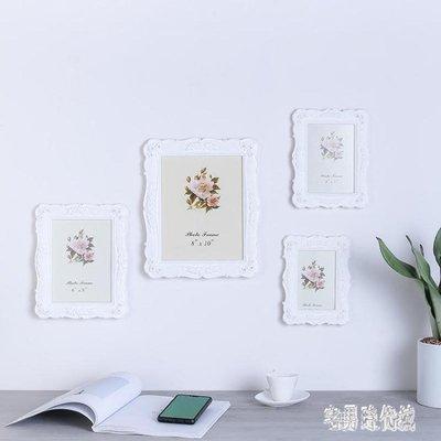 相框 6寸7寸8寸10寸白色歐式洗照片加相框組合創意照片框擺臺現代簡約 nm19146