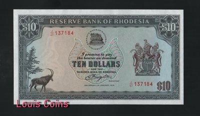 【Louis Coins】B148-RHODESIA-1979羅德西亞紙幣-10 Dollars