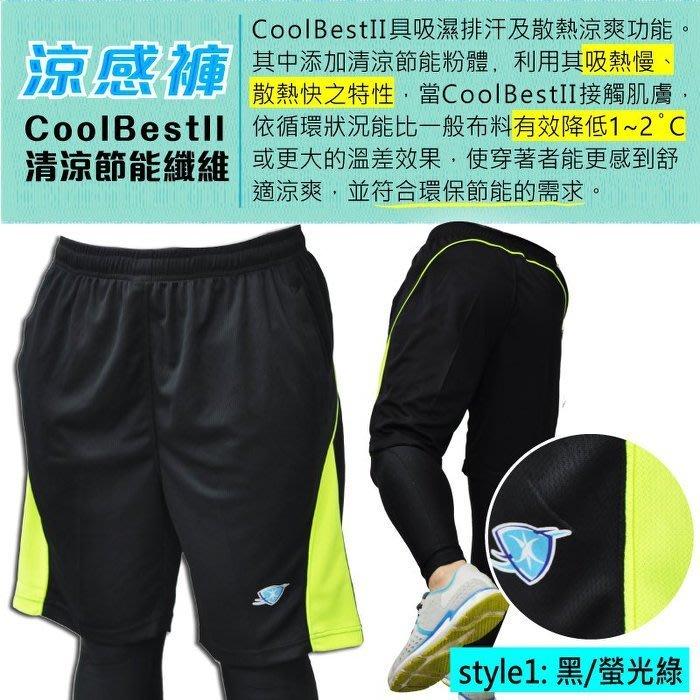 過季清倉-涼感優質運動短褲,降溫涼感運動短褲,品牌限定,清涼節能纖維,黑色一件200元