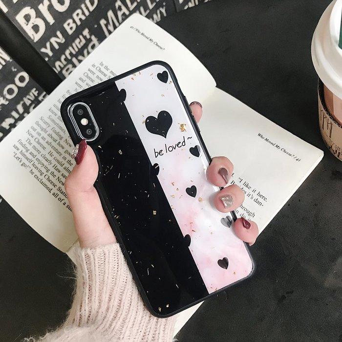 VIVO NEX X23 X21 X20 plus 手機殼 拼接愛心 歐美潮牌 金箔閃粉 軟殼全包 保護套