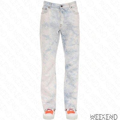 【WEEKEND】 OFF WHITE Washed Logo 水洗 長褲 牛仔褲 藍色 20春夏