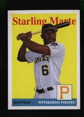 2019 Topps Archives #22 Starling Marte - Pittsburgh Pirates