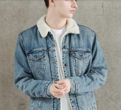 日版Levis Levi's Trucker Jacket 牛仔外套 MUSTARD SHERP 水洗藍 內裡刷毛
