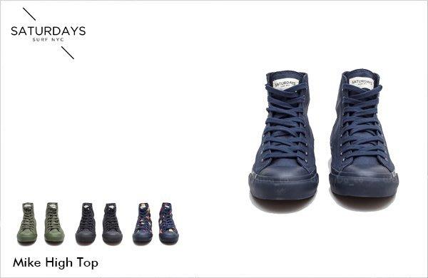 WASHIDA【000561】SATURDAYS NYC 美國品牌 高筒 Mike High單色 休閒鞋 現貨 SALE