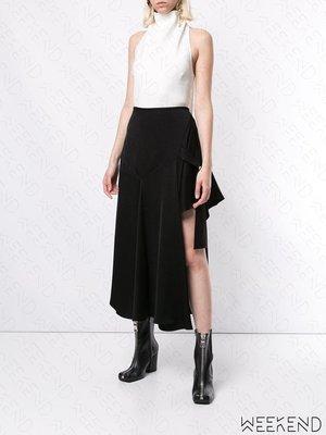 【WEEKEND】 ELLERY 缺口 單邊高衩 不規則下擺 半身裙 長裙 黑色