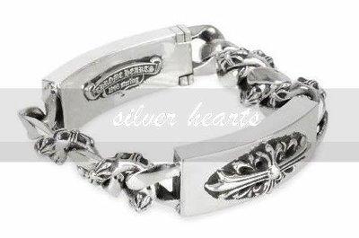 【SILVER HEARTS】Goro's Chrome Hearts克羅心Dagger&Floral 純銀手環手鍊